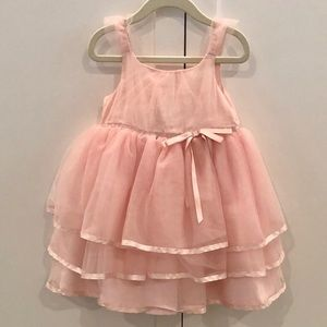 Janie and Jack pink tiered dress